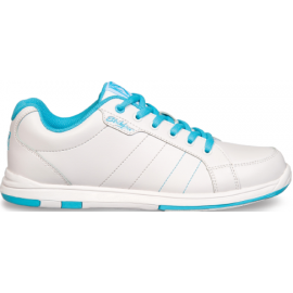 KR SHOES SATIN WHITE/AQUA
