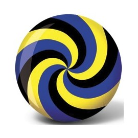 VIZ-A-BALL SPIRAL BLUE YELLOW BLACK