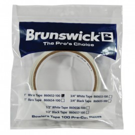 BRUNSWICK TAPE WHITE 1' ROLL  x100