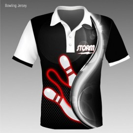 BOWLFUN POLO STORM BALL BLACK - HOMME