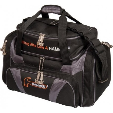 HAMMER PREMIUM DOUBLE TOTE BLACK - ORANGE