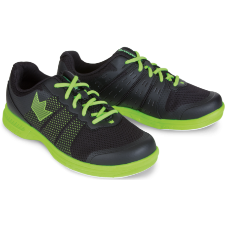 BRUNSWICK SHOES MEN'S FUZE BLACK NEON GREEN