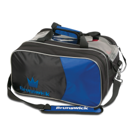 BRUNSWICK TOURNAMENT DOUBLE TOTE ROYAL WITH POUCH