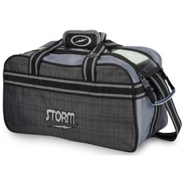STORM 2-BALL TOTE PLAID GREY BLACK