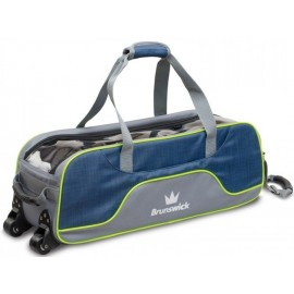 BRUNSWICK TOURNAMENT DELUXE TRIPLE SLIM ROLLER NAVY LIME