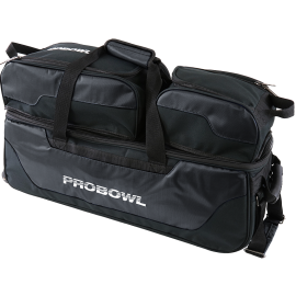 PRO BOWL TRIPLE TOTE W/ SHOE BAG BLACK/BLACK