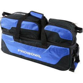 PRO BOWL TRIPLE TOTE W/ SHOE BAG BLACK/BLUE