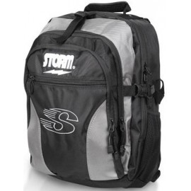 STORM DELUXE BACK PACK BLACK - SILVER