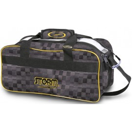 STORM 2-BALL TOTE PLAID BLACK GOLD