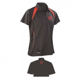 BRUNSWICK POLO BLACK/RED